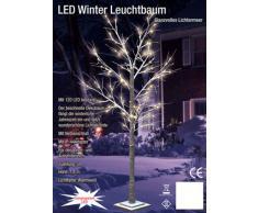 Spetebo - Árbol de Navidad con iluminación led y nieve (180 cm, para interior y exterior, 120 ledes, luz blanca cálida)