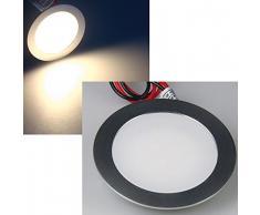 Slim LED de techo-lámpara de aluminio mate 12 V 0,5 W IP67 entrará a/con sistema de montaje empotrado-foco EBL colour azul resistente al agua de luz de colour blanco de luz blanca fría RGB de mando de luz de pie en el suelo