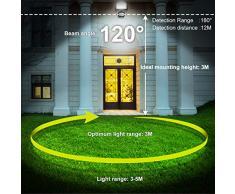 Foco con Sensor Movimiento, 10W Proyector Exterior Impermeable IP66 Luz LED 1000LM 6500K, Iluminación de Exterior y Seguridad interior y exterior para Jardín, Patio, Camino, Yarda