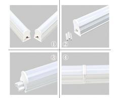 (LA) Regleta Tubo LED integrado T5 60cm, 9W para Muebles de Cocina, armarios, etc. Color: 4500K, 800 lumenes