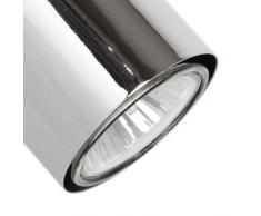 MiniSun - Moderno aplique de pared o plafón para el techo con un foco de metal y acabado cromado