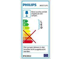 Philips myLiving Byzantin - Lámpara de techo colgante, iluminación interior, LED, 2400 lm, 5 W, integrado, cromo y vidrio, color gris