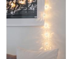 Guirnalda de 16 luces LED con globos plateados estilo marroquí de Lights4fun