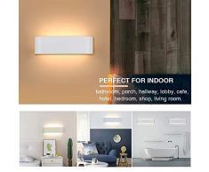 2 Pcs Lámpara De Pared Interior 12W Moderna Apliques De Pared Blanco Cálido Para La Sala De Estar Dormitorio Baño Cocina Comedor