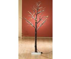 Fachhandel-Plus - Mini árbol led decorativo con 36 luces led, 60 cm aprox., luz de color blanco cálido