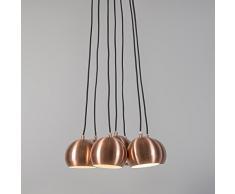 QAZQA Diseño / Moderno / Lámpara colgante CLUSTER 7 cobre Metal Esfera Adecuado para LED E14 Max. 7 x 40 Watt