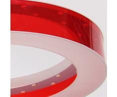 Lámpara de Techo LED - HomeLava Lámpara de Techo con 3 Luces Lámpara LED 18W Iluminación interior para Salón/Dormitorio/Hotel, Rojo