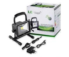 LE 20W Recargable Luz de Trabajo LED Portátil, 100W Equivalente Halógena Bombilla, 1400lm, Proyector LED, Impermeable