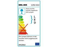 Briloner Leuchten 1292-022 A+ Lámpara de pie, intensidad regulable, lámpara de salón, lámpara de techo, lámpara de pie, lámpara LED, luz de posición, orientable