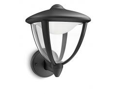 Philips myLiving Robin - Aplique, LED, iluminación exterior, color negro