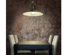 Relaxdays 10018909 - Lampara colgante, estilo industrial, zócalo E27, Altura de lampara regulable