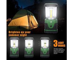 LE Linterna de Camping Recargable, LED Luces para exteriores de 1000 lúmenes, 4 Modos Luz de Emergencia, Luz de Carpa Resistente al Agua para Acampar, Caminar, Pescar, Cortes de Energía y Más