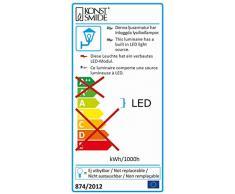 Konstsmide Estaca LED Foco/Jardín Foco Monza 77 cm Aluminio, orientable, IP44, 3 W; 7969 - 000