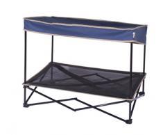 Quik sombra mascota lámpara al aire libre Instant mascota Shade con niveles elevados de malla cama, tamaño mediano, 61 x 91 x 74 cm, 4 kg, Color Azul Marino