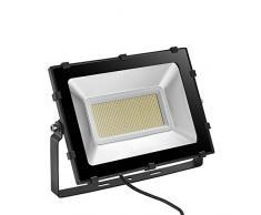Viugreum 200W Focos LED Exterior Proyector Impermeable IP65 Iluminación de Exterior para Patios, Caminos, Escaleras, Jardines, Fábricas, Muelles, Estadios - Blanco Cálido