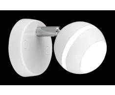 Trio 828210101 Serie 8282 - Foco, bombilla incluida, SMD, LED, 3,8 W, 350 lm, 3100 K, 230 V, A+, IP20, diámetro 8 cm, plástico, blanco