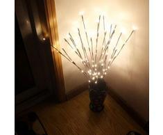 Hangang Ramas de Luces LED Ramas Ramas de Luces Flexible Ramas decoración luz para Interior casa Tienda Ventanas jarrón Mesa Sala de Estar, 3 Colores Disponibles (Blanco, 2)
