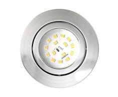 LED empotrable (5 piezas, incluye 5 x LED Módulo 5,5 W 470lm regulable orientable para foco empotrable (Luz Blanca Cálida redondo