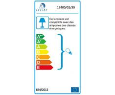 Lucide Bilja, lámpara colgante, 2 x E27, intensidad regulable, negro y 17400/02/30