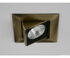 KUBIC - Foco Empotrable Kubik Cuadrado Basculante (Valido para Halógeno y LED),color Cuero