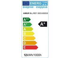 Aimur 10129R9R055 - Foco empotrado (cuadrado, basculante, módulo LED Sharp, 9 W, 5000 K), color marrón