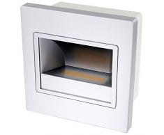 Lámpara LED Lámpara COB Empotrada (Nivel 230 V - Carcasa en plata - color de luz en blanco cálido - 1,5 W 110LM 120 ° - incl. Up de lata de Easy Click Sistema de
