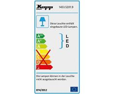Kopp LED Jardín de techo de 1 foco con estaca y Interruptor crepuscular, Negro, 145352019