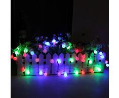 5M 28 bola globo cadena luces coloridas impermeable al aire libre hada luz LED para jardín Patio enchufe para la UE Holiday fiesta árbol de Navidad decoración de la boda