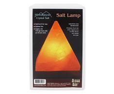 Himalayan Salt - Lámpara cristalina Himalayan de la sal de la pirámide de la sal por Aloha Bay - 6,5en.