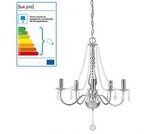 [lux.pro] Lámpara de araña (zócalo 5 x E14)(68,0 cm x Ø 52,0 cm) Lámpara de techo - 5 brazos - cristal