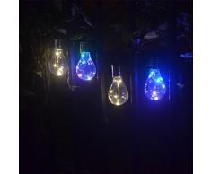 Linterna LED, Xinan Luz colgante que cuelga LED del jardín al aire libre rotatorio solar impermeable Foco