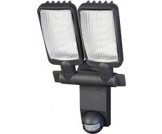 Brennenstuhl City LV5405 1179660 - Foco exterior con sensor de movimiento (luces LED, 54 x 0,5 W, IP44)