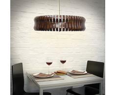 Relaxdays 10018905 - Lámpara colgante, Medidas: 54 x 114 cm, Altura ajustable, Peso: 5.7 Kg, Madera.