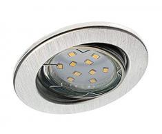 Trango 6 conjunto Luz empotrada LED TG6729-069GU5SD de aluminio redondo incl. en 3 pasos bombillas LED regulables 3000K blanco cálido Luces empotradas, focos de techo, lugares empotrados, luz de techo