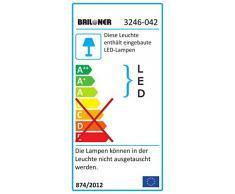 Briloner Leuchten Lámpara de techo LED con 4 barras, decorativa, salón, iluminación antideslumbrante, 20 W, 55 x 55 x 11.5 cm