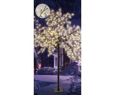 Spetebo - Árbol led para interior y exterior (600 bombillas LED, 250 cm, luz blanca cálida)