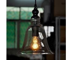 Campana de techo de cristal de la lámpara colgante cortina ligera industrial de época moderna