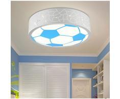 LYXG Habitación niños LED Lámpara Luz de techo para niños y niñas y acogedoras habitaciones la energía de la luz luz de dibujos animados fútbol ojo cuidado niños lámparas (400mm*90mm), Luz Blanca