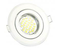 Set de blanco focos empotrables LED de 5 W y 450 lúmenes, luz blanca cálida Lámpara Foco Spot Foco empotrable gu10 230 V Ø100 mm