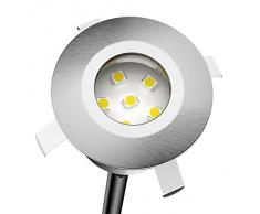 Parlat LED lámpara empotrable en el Suelo Atria para el Exterior Aluminio Blanca cálida, 14lm, IP65, 40mm Ø