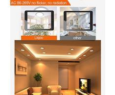 Liqoo® 5X 6W LED Panel Luz de Techo Focos Lámpara Empotrable Downlight Ultra delegada Transformador Incluido Redondo Blanco Cálido 3000K AC 85 -265V 450LM