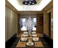 OOFAY LIGHT® Moda contemporánea 4 * 3W K9 cristal moderno lluvia caer iluminación bola de cristal lámpara colgante de la lámpara LED