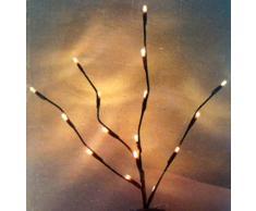 Batería Luz ramas LED marrón