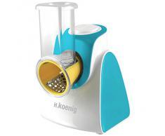 H.Koenig FRSH500 FRSH500-Rallador eléctrico, Color, Acero Inoxidable, plástico, Azul