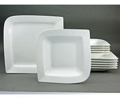 Creatable 19995, Serie Fantasia Blanco, Cocina Vajilla 12 Piezas Vajilla, Porcelana, Blanco, 39 x 28,5 x 29,5 cm, 12 Unidades