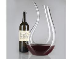 Homestia U Art 1.5L Decantador de Vino Vidrio