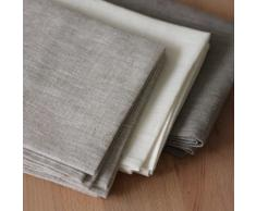 2 toallas de cocina 50x70 cm 100% lino gris
