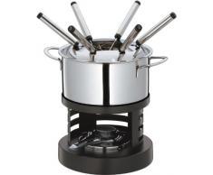 Küchenprofi 21 3300 28 00 Luzern - Juego de Fondue, Color Plateado y Negro