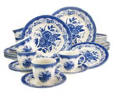 Creatable 19426 Victorian - Vajilla (30 Piezas), Color Azul