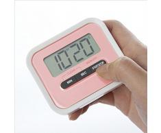 Temporizador de Cocina , Magnética Digital Temporizador de Cocina con Alarma Fuerte con LCD Pantalla-(Rosado)